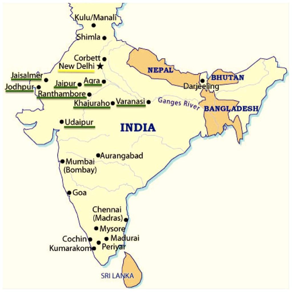 Mapa India Ciudades
