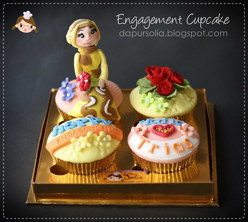 Engagement Cupcake for Hafid & Trias