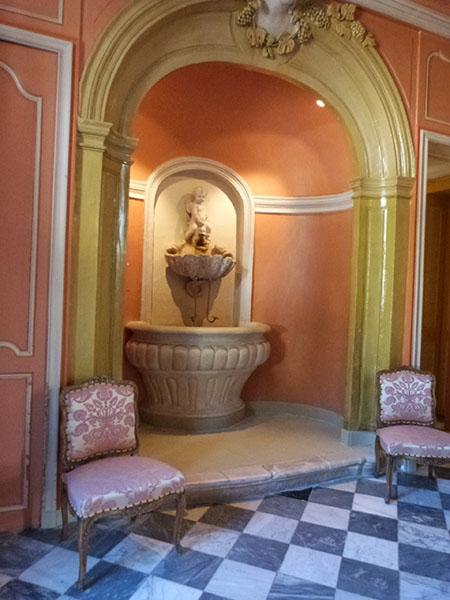 fontaine salle à manger villandry