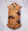 Vintage solic copper peephole / security door