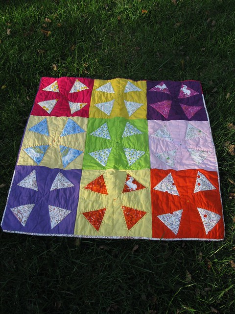 Liberated triangle quilt