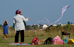 Kiteflying on Tempelhofer Feld