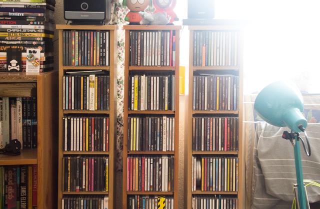 living room cd shelves - before