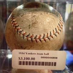 1934 Yankees Team Ball - #sluggermuseum #newyork #NYY #yankees #newyorkyankees #mlb #memorabilia #baseball