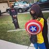 Happy #middleschool Halloween! #CaptainAmericanNinja #horse