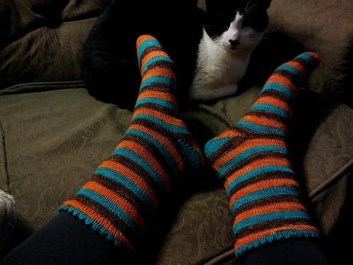 Halloween Socks and Jeremiah