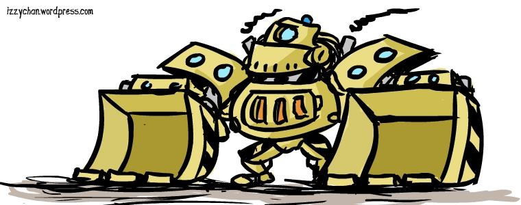 robot tractor guy