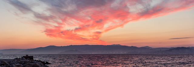 Amanecer en la Ría de Vigo
