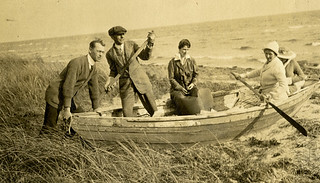 Koreshans posing in a rowboat - Cape Cod