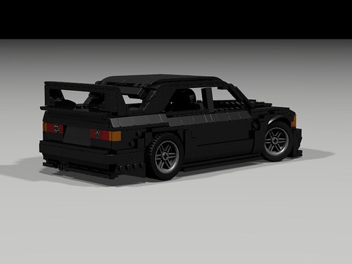 Lego 1990 Mercedes 190E Evo II - rear-side