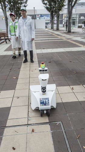 Robot walk on the road 2