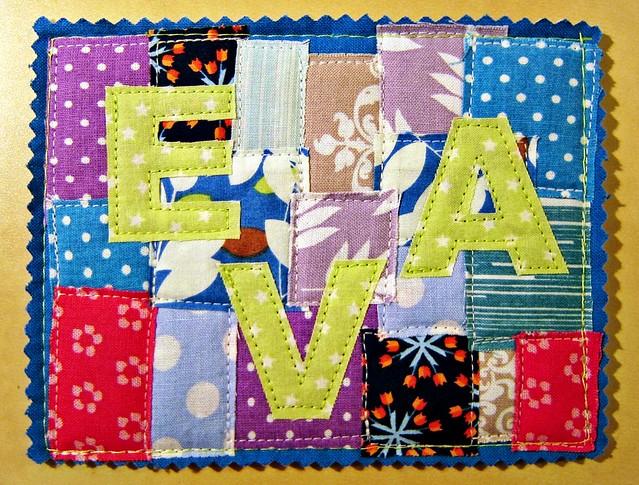 Goldengelchen Stoffkarte Geburtstag Eva01