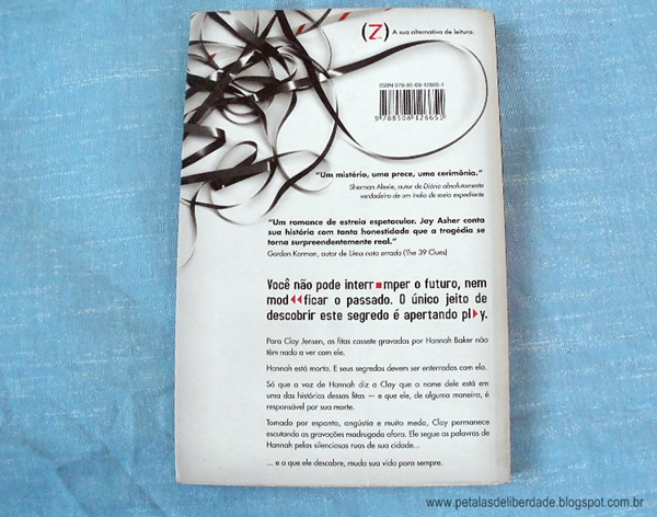 Resenha, livro, Os 13 Porquês, Jay Asher, trechos, capa, suicídio, quotes, crítica, Editora Ática, entrevista, sinopse