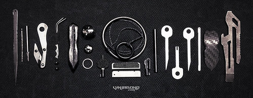 Escape & Evasion Kit /// Gear and tools to free yourself from restraints; handcuffs, plastic zip-ties, rope, tape, stationery object  securement and entry / exit of locked facilities.