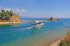 Macedonia, coaster sailing out of Nea Potidaia canal, Kassandra, Chalkidiki, Toroneos bay  #Μacedonia by gentle wolf
