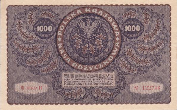 1000 Mariek Poľsko 1919, Pick 29