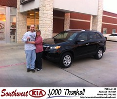 #HappyAnniversary to George Walker on your 2013 #Kia #Sorento from Gary Guyette  at Southwest KIA Rockwall!