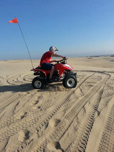 ATVs on Oceano Dunes, Pismo Beach, California