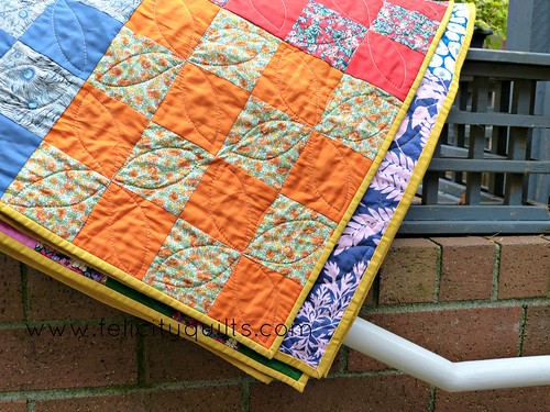 Liberty Goes to the Circus quilted block
