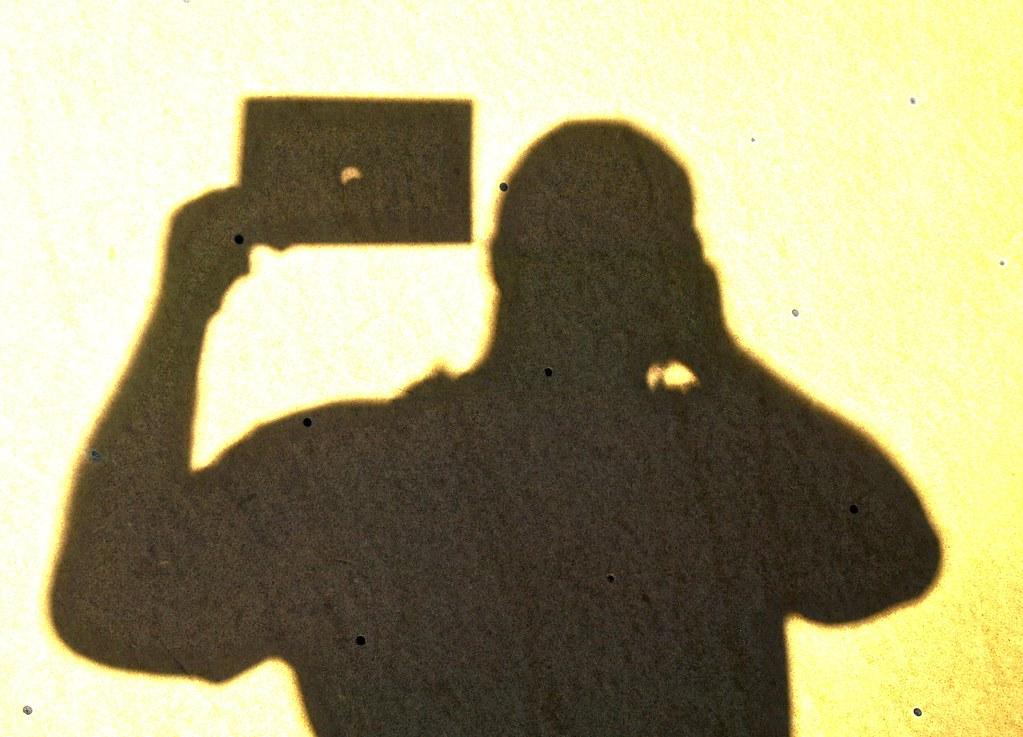 Eclipse shadow of cameraman