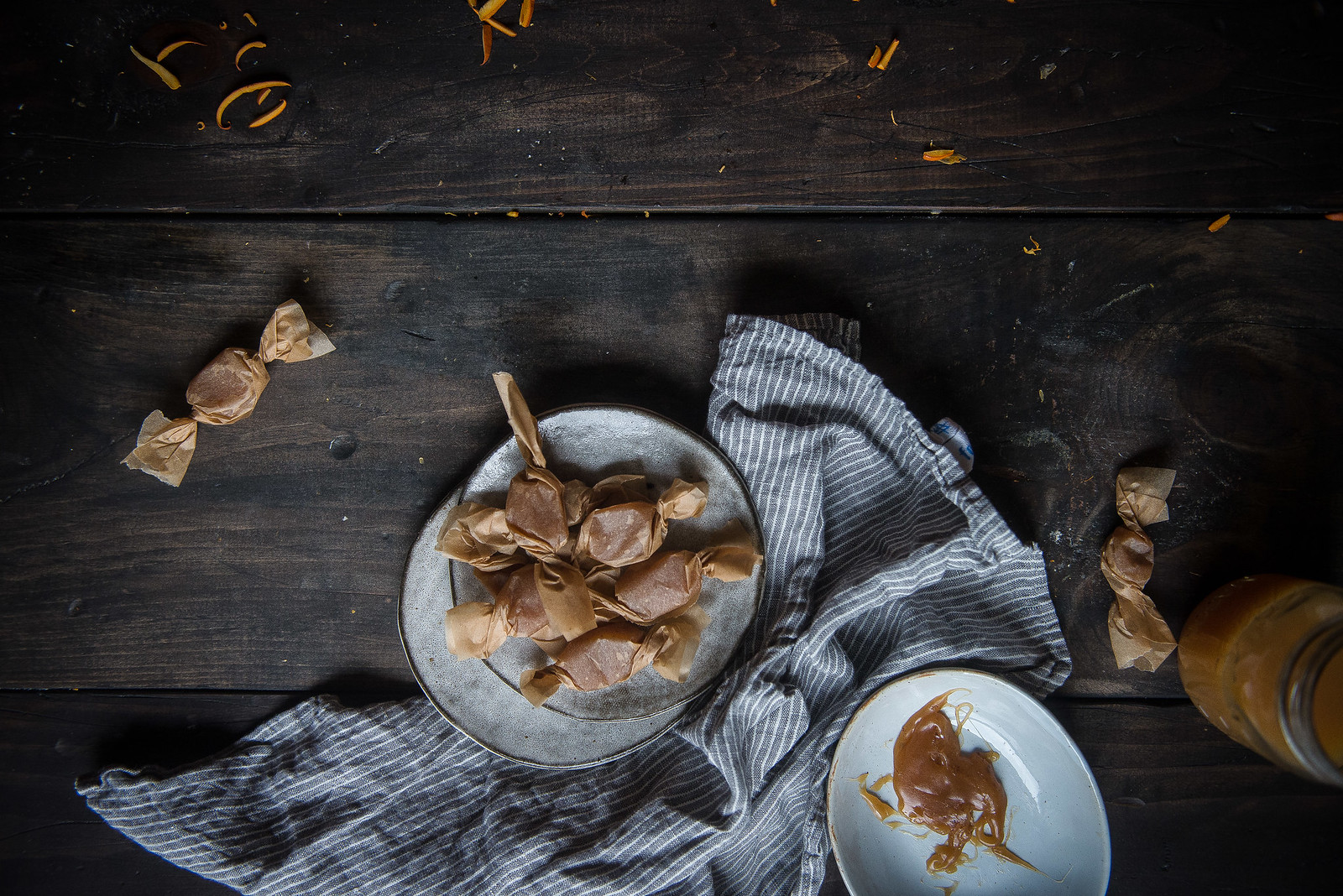 happy halloween + apple cider creme fraiche caramels!
