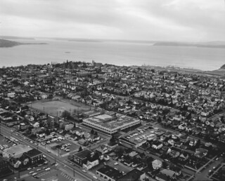 Aerial of west Queen Anne, 1969
