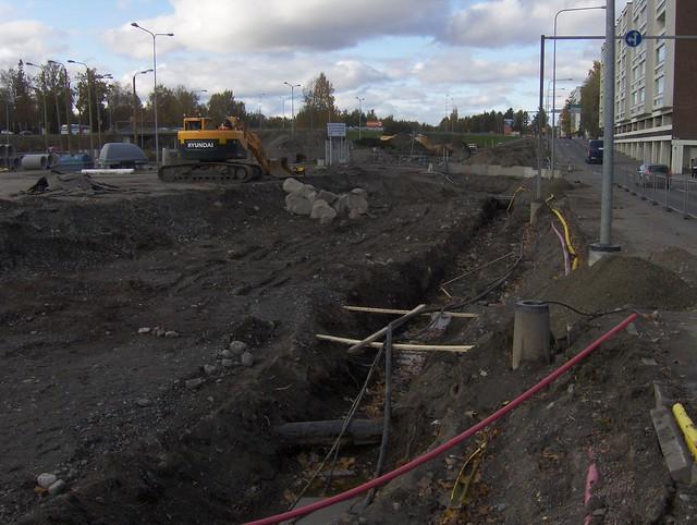 Hämeenlinnan moottoritiekate ja Goodman-kauppakeskus: Työmaatilanne 9.10.2011 - kuva 7