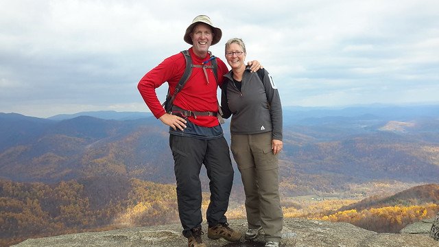 We made it - 2,510' up to the Old Rag summit at 3,291'