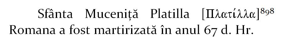 Sfanta Mucenita Platilla