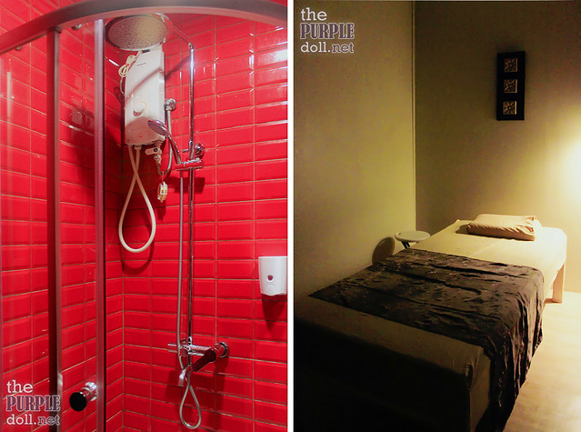 Shower Room and Swedish Massage Bed at Nuat Thai Banawe
