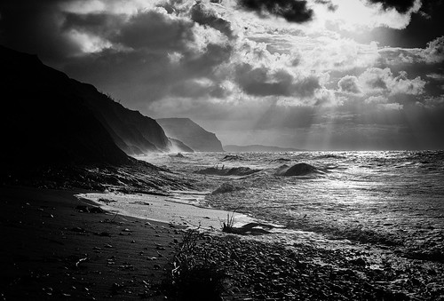 Stormy morning in Charmouth