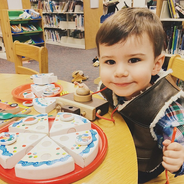 Our last visit to our library's Toddler Time; there was cake. #instaluther #toddler #library #children #cake