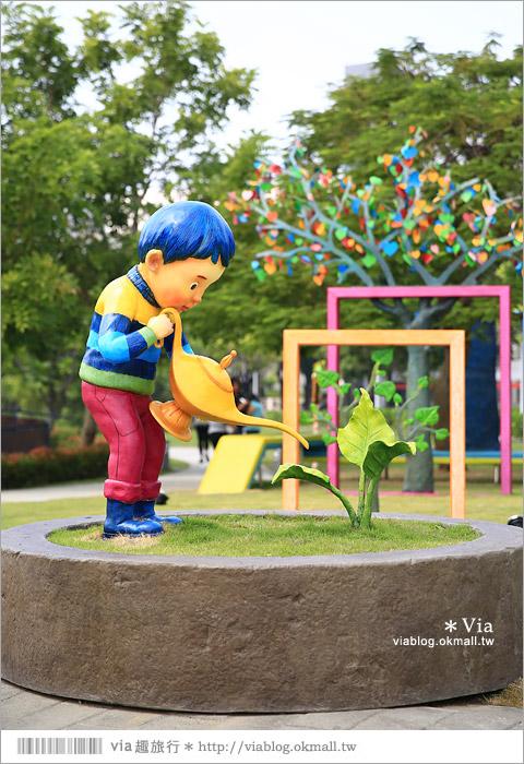 【南科幾米】台南|台積電南科幾米裝置藝術小公園~願望盛開‧許諾之地7