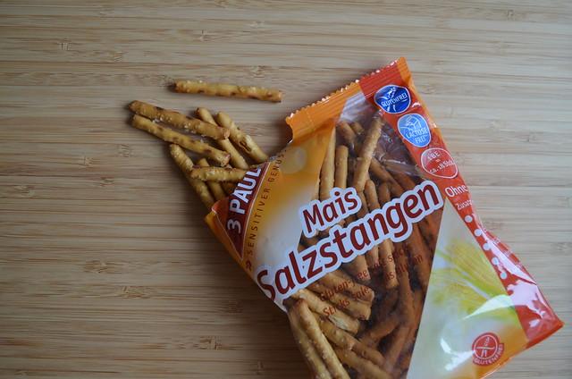 Germany gluten-free pretzel taste test_ 3 Pauly Mais salzstangen