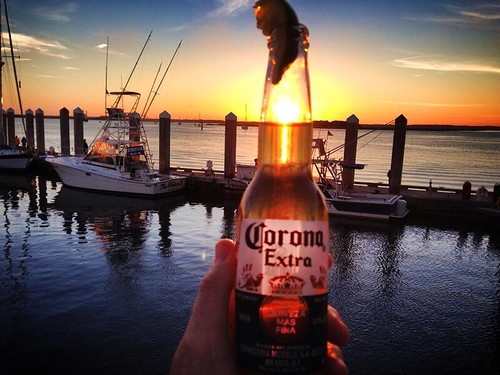 sunset beach beer boats photography florida corona dm fernandina
