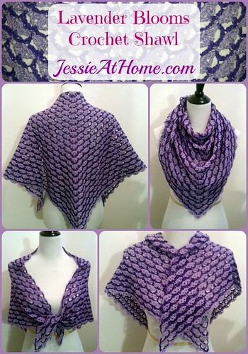 Lavender Blooms Shawl Free Crochet Pattern Jessie At Home