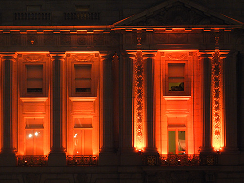DSCN7878 - San Francisco City Hall in SF Giants' Orange Glow