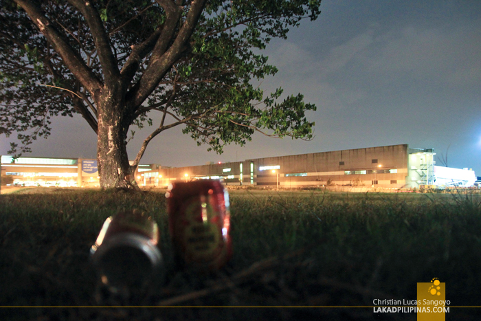 Drinking Beer Outside the NAIA Terminal III