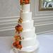 Autumnal wedding cake by The Designer Cake Company