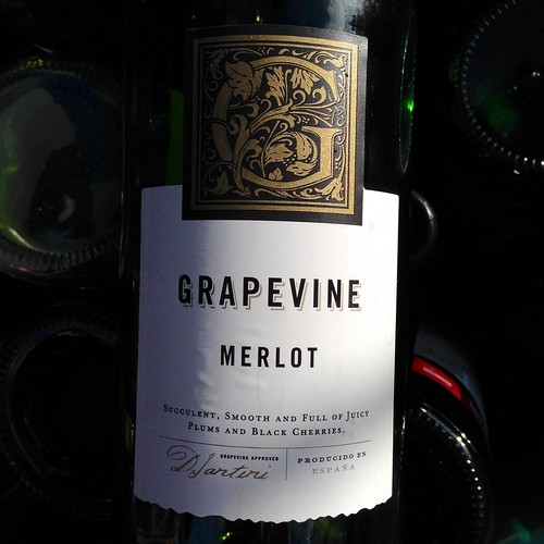 Grapevine Merlot. Red wine. Spanish wine. Aldi.