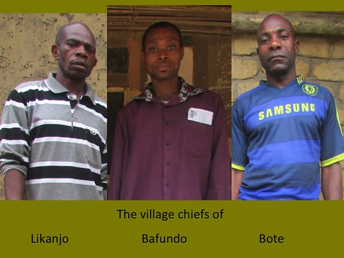 Chiefs from the 3 villages