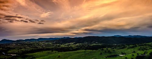 sunset sky panorama mountains green nikon panoramic hills valley canberra dx murrumbidgee 18200mm brindabella urambi d7000