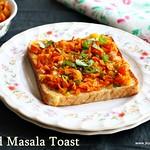 Bread masala Toast