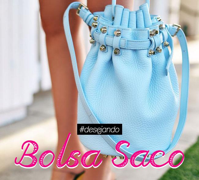 Pra desejar: Bolsa saco