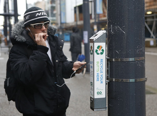 CANADA-VANCOUVER-CIGARETTE BUTT-RECYCLE