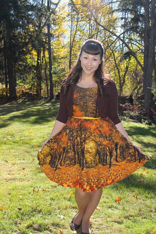 photographic print dress