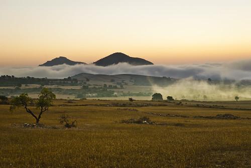 sunrise amanecer niebla montañas almendro 2014 caudete nikond3000 bestcapturesaoi elitegalleryaoi franciscoesteveherrero