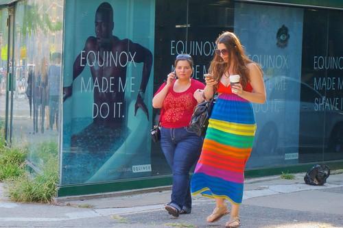 New York women love their Gay Pride dresses