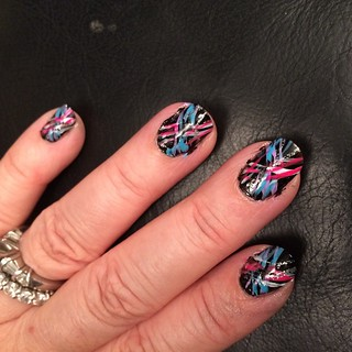 My 80's graffiti #nailart inspired by @missjenfabulous