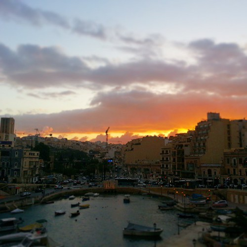 sunset sea sky building colors clouds square boats island bay tramonto nuvole mare malta barche cielo squareformat s3 isola baia portomaso saintjulian iphoneography instagramapp uploaded:by=instagram